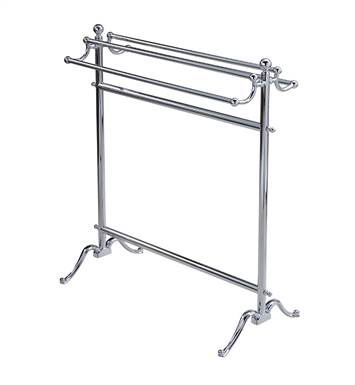 Valsan 53515CR Valdemar Dos Santos Bathroom Floor Standing Double Towel Holder With Finish: Chrome
