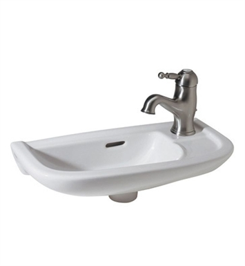 Rohl 1090-00 Allia Wall Mount Vitreous China Bathroom Sink