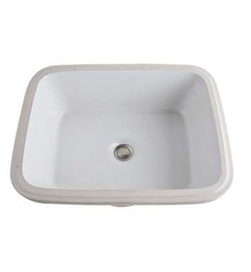 Rohl 1542-00 Allia Undermount Vitreous China Bathroom Sink with Overflow