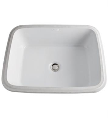 "Rohl 1532-00 Allia 20 1/2"" Single Bowl Undermount Rectangular Bathroom Sink in White"