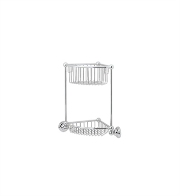 Rohl U.6959-APC Perrin & Rowe Two Tier Corner Basket With Finish: Polished Chrome