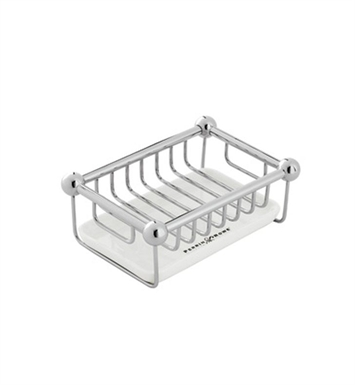 Rohl U.6972-APC Perrin & Rowe Free Standing Soap Basket with Tray With Finish: Polished Chrome