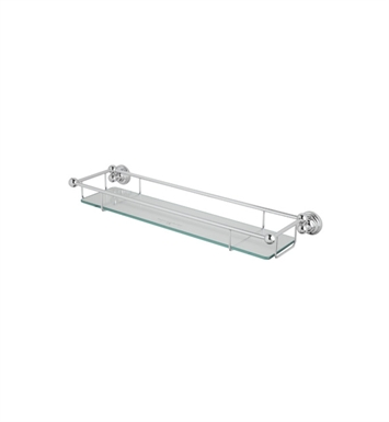Rohl U.6953-IB Perrin & Rowe Wall Mounted Glass Shelf With Towel Rack With Finish: Inca Brass <strong>(SPECIAL ORDER, NON-RETURNABLE)</strong>