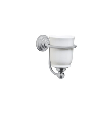 Rohl U.6925-PN Perrin & Rowe Tumbler Holder with White Porcelain Tumbler With Finish: Polished Nickel