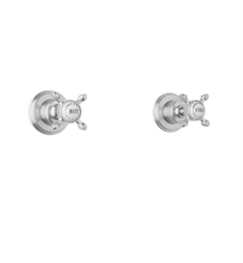 Rohl U.3231X Perrin & Rowe Set of Two Wall Valve Trims with Cross Handles