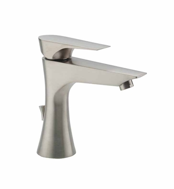 California Faucets E201-1-SS Diva Single Hole Low Lavatory Faucet With Finish: Stainless Steel <strong>(USUALLY SHIPS IN 2-4 WEEKS)</strong>