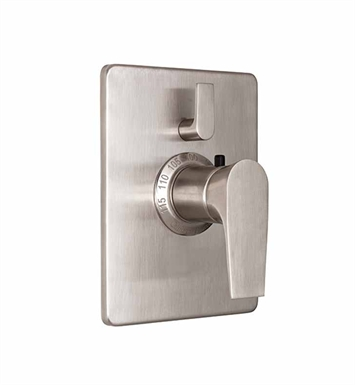 California Faucets TO-THC1L-E2-SS Diva Styletherm Trim Only with Single Volume Control With Finish: Stainless Steel <strong>(USUALLY SHIPS IN 2-4 WEEKS)</strong>
