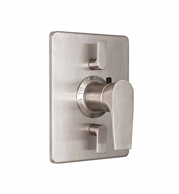 "California Faucets TO-THC2L-E2-PBU Diva Styletherm 1/2"" Thermostatic Valve w/ Dual Volume Control Trim With Finish: Polished Brass Uncoated <strong>(USUALLY SHIPS IN 3-9 BUSINESS DAYS)</strong>"