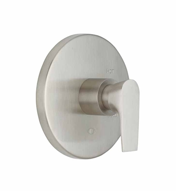 "California Faucets TO-PBL-E2-PEW Diva 1/2"" Pressure Balance Valve Trim With Finish: Pewter <strong>(USUALLY SHIPS IN 1-3 WEEKS)</strong>"