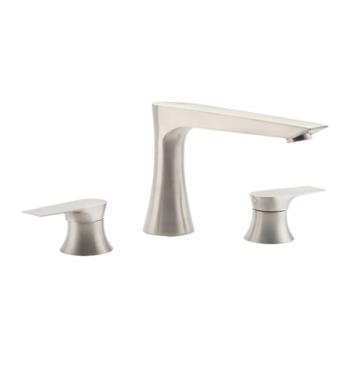 "California Faucets TO-E208-LSG Diva 10"" Two Handle Widespread/Deck Mounted Roman Tub Faucet With Finish: Lifetime Satin Gold <strong>(USUALLY SHIPS IN 3-5 WEEKS)</strong>"