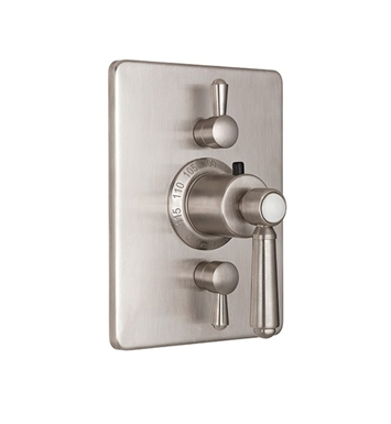 California Faucets TO-THC2L-33-RBZ Topanga Styletherm Trim with Dual Volume Control With Finish: Rustico Bronze <strong>(USUALLY SHIPS IN 1-2 WEEKS)</strong>
