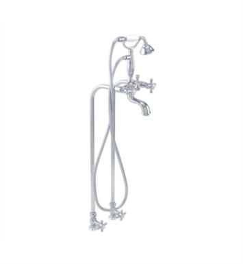"California Faucets 9500-PC 2 3/8"" Floor Mount Kit With Finish: Polished Chrome <strong>(USUALLY SHIPS IN 1-5 BUSINESS DAYS)</strong>"