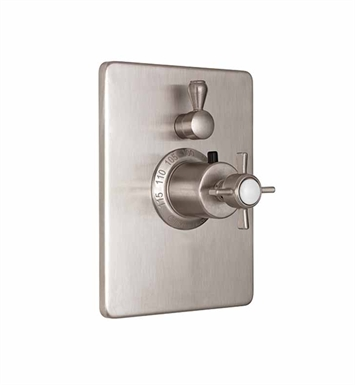 California Faucets TO-THC1L-34-EB Styletherm Trim with Single Volume Control With Finish: English Brass <strong>(USUALLY SHIPS IN 4-6 WEEKS)</strong>