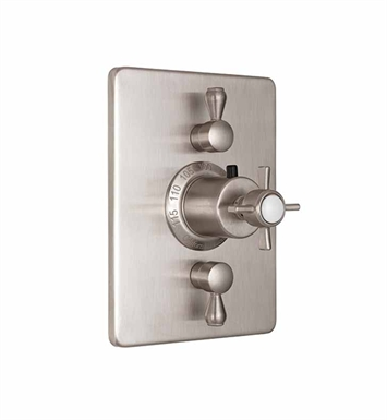 California Faucets TO-THC2L-34-PEW Styletherm Trim with Dual Volume Control With Finish: Pewter <strong>(USUALLY SHIPS IN 1-3 WEEKS)</strong>