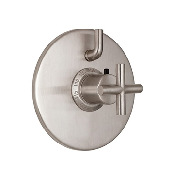 California Faucets TO-TH1L-65-PEW Tiburon Styletherm Trim with Single Volume Control With Finish: Pewter <strong>(USUALLY SHIPS IN 1-3 WEEKS)</strong>