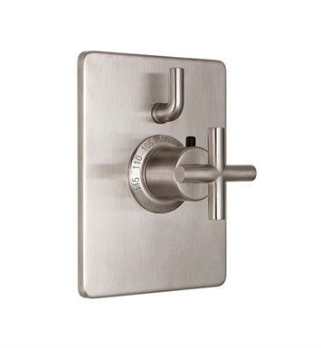 California Faucets TO-THC1L-65-PEW Tiburon Styletherm Trim with Single Volume Control With Finish: Pewter <strong>(USUALLY SHIPS IN 1-3 WEEKS)</strong>