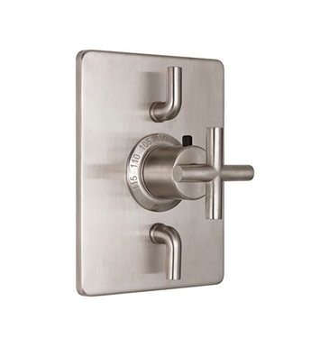California Faucets TO-THC2L-65-SC Tiburon Styletherm Trim with Dual Volume Control With Finish: Satin Chrome <strong>(USUALLY SHIPS IN 1-3 WEEKS)</strong>