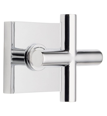 California Faucets TO-65-WC-PBU Tiburon Wall or Deck Handle Trim with Square Base Ring With Finish: Polished Brass Uncoated <strong>(USUALLY SHIPS IN 3-9 BUSINESS DAYS)</strong>