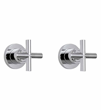 California Faucets TO-6506L-PBU Tiburon Two Handle Tub and Shower Trim With Finish: Polished Brass Uncoated <strong>(USUALLY SHIPS IN 3-9 BUSINESS DAYS)</strong>
