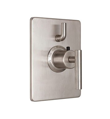 California Faucets TO-THC1L-66-PEW Montara Styletherm Trim with Single Volume Control With Finish: Pewter <strong>(USUALLY SHIPS IN 1-3 WEEKS)</strong>