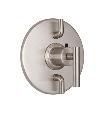 California Faucets TO-TH2L-66-BIS Montara Styletherm Trim with Dual Volume Control With Finish: Biscuit <strong>(USUALLY SHIPS IN 1-3 WEEKS)</strong>