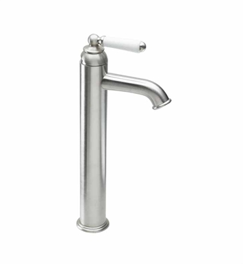 California Faucets 3501-2-WHT Belmont Single Hole High Lavatory Faucet With Finish: White <strong>(USUALLY SHIPS IN 1-3 WEEKS)</strong>