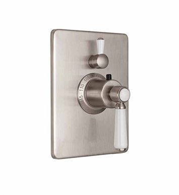 California Faucets TO-THC1L-35-PEW Belmont Styletherm Trim with Single Volume Control With Finish: Pewter <strong>(USUALLY SHIPS IN 1-3 WEEKS)</strong>