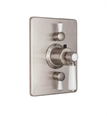 "California Faucets TO-THC2L-35-PBU Belmont 5 7/8"" StyleTherm Trim with Dual Volume Control With Finish: Polished Brass Uncoated <strong>(USUALLY SHIPS IN 3-9 BUSINESS DAYS)</strong>"