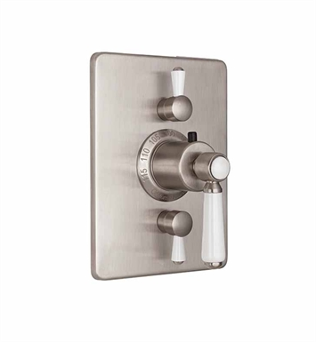 California Faucets TO-THC2L-35-PVD Belmont Styletherm Trim with Dual Volume Control With Finish: Polished Brass <strong>(USUALLY SHIPS IN 1-3 WEEKS)</strong>