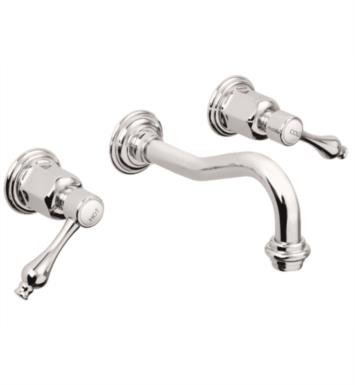"California Faucets TO-V3602-7-PBU Encinitas 7 5/8"" Double Handle Wall Mount/Vessel Bathroom Sink Faucet With Finish: Polished Brass Uncoated <strong>(USUALLY SHIPS IN 3-9 BUSINESS DAYS)</strong>"
