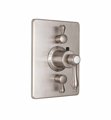 California Faucets TO-THC2L-36-LSG Encinitas Styletherm Trim with Dual Volume Control With Finish: Lifetime Satin Gold <strong>(USUALLY SHIPS IN 3-5 WEEKS)</strong>