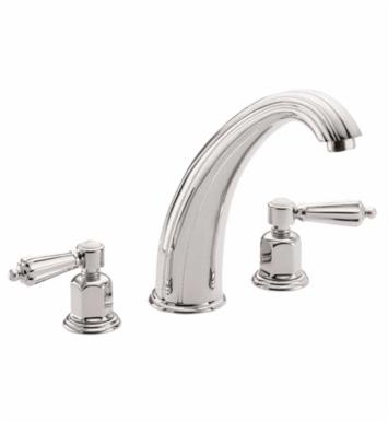 "California Faucets TO-6808-SB San Clemente 9 1/2"" Two Handle Widespread/Deck Mounted Roman Tub Trim Faucet Set With Finish: Satin Brass <strong>(USUALLY SHIPS IN 4-6 WEEKS)</strong>"