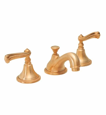 California Faucets 3802-PVD La Jolla Widespread Lavatory Faucet With Finish: Polished Brass <strong>(USUALLY SHIPS IN 1-3 WEEKS)</strong>