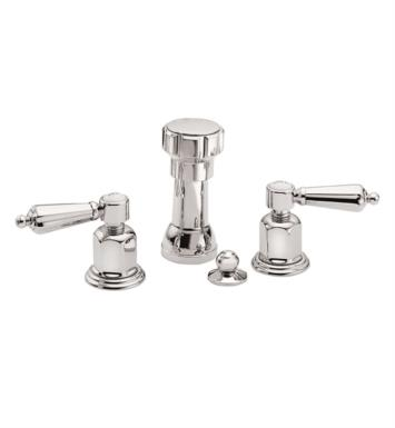"California Faucets 6804-SN San Clemente 5 3/8"" Widespread/Deck Mounted Bidet Faucet Set With Finish: Satin Nickel <strong>(USUALLY SHIPS IN 1-5 BUSINESS DAYS)</strong>"