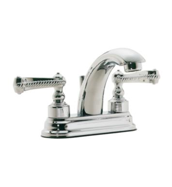 "California Faucets 3801-WHT Santa Monica 5 7/8"" Double Handle Centerset/Deck Mounted J-Spout Bathroom Sink Faucet With Finish: White <strong>(USUALLY SHIPS IN 1-3 WEEKS)</strong>"