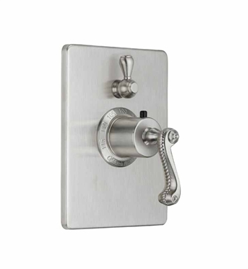 California Faucets TO-THC1L-38-AB Styletherm Trim with Single Volume Control With Finish: Antique Brass <strong>(USUALLY SHIPS IN 5-12 BUSINESS DAYS)</strong>