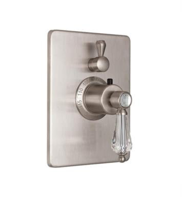 "California Faucets TO-THC1L-69-SC Crystal Cove 5 7/8"" StyleTherm Trim Only with Single Volume Control With Finish: Satin Chrome <strong>(USUALLY SHIPS IN 1-3 WEEKS)</strong>"