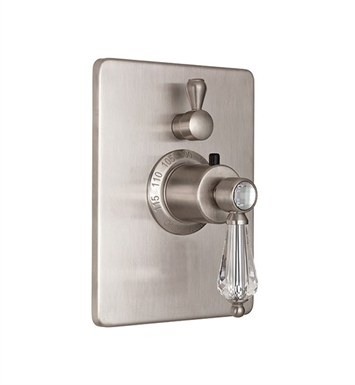 California Faucets TO-THC1L-69-CB Crystal Cove Styletherm Trim with Single Volume Control With Finish: Carbon <strong>(USUALLY SHIPS IN 3-5 WEEKS)</strong>