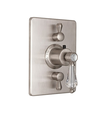 California Faucets TO-THC2L-69-LSG Crystal Cove Styletherm Trim with Dual Volume Control With Finish: Lifetime Satin Gold <strong>(USUALLY SHIPS IN 3-5 WEEKS)</strong>