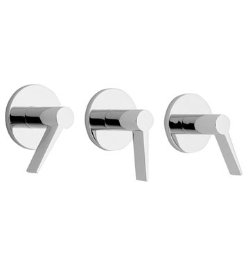 California Faucets TO-7103L-SC Palos Verdes Three Handle Tub and Shower Trim With Finish: Satin Chrome <strong>(USUALLY SHIPS IN 1-3 WEEKS)</strong>