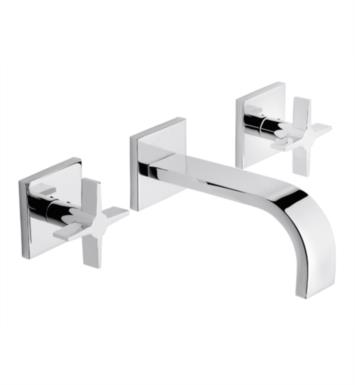 "California Faucets TO-V7202-7-SN Aliso 6 5/8"" Double Handle Wall Mount/Vessel Bathroom Sink Faucet With Finish: Satin Nickel <strong>(USUALLY SHIPS IN 1-5 BUSINESS DAYS)</strong>"