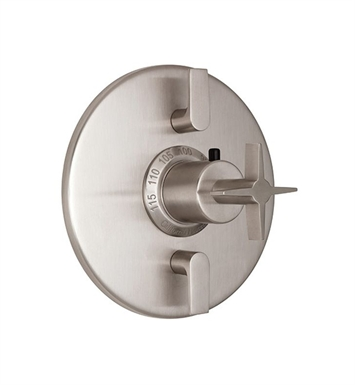 California Faucets TO-TH2L-72-SS Aliso Styletherm Trim with Dual Volume Control With Finish: Stainless Steel <strong>(USUALLY SHIPS IN 2-4 WEEKS)</strong>
