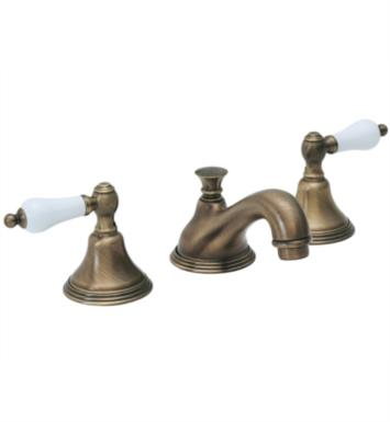 "California Faucets 4002-LSG Huntington 6 5/8"" Double Handle Widespread/Deck Mounted Bathroom Sink Faucet With Finish: Lifetime Satin Gold <strong>(USUALLY SHIPS IN 3-5 WEEKS)</strong>"