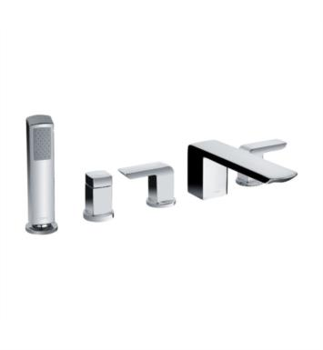 "TOTO TB960S#BN Soiree 10 1/8"" Five Hole Deck Mounted Roman Tub Faucet with Handshower and Diverter With Finish: Brushed Nickel"