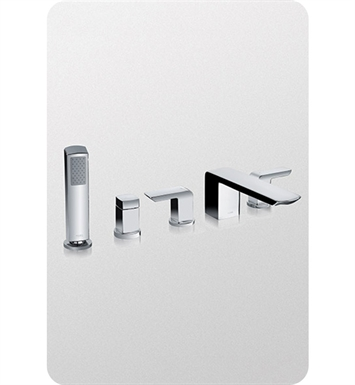 TOTO TB960S#BN Soirée® Deck-Mount Bath Faucet with Handshower and Diverter With Finish: Brushed Nickel