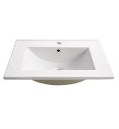 "Fresca FVS6124WH Amato 24"" White Integrated Sink with Countertop"