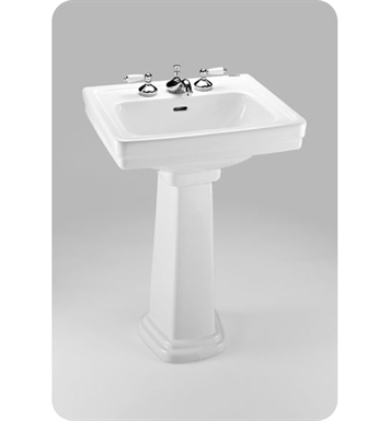"TOTO LPT532N.8#11 Promenade® Pedestal Lavatory With Finish: Colonial White And Faucet Holes: Three Hole for 8"" Faucet Centers"