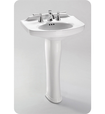 "TOTO LPT642.4#12 Dartmouth Pedestal Lavatory With Finish: Sedona Beige And Faucet Holes: Three Hole for 4"" Faucet Centers"