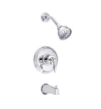 Danze D511010T Prince™ Trim Only Single Handle Pressure Balance Tub and Shower Faucet in Chrome