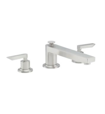 "California Faucets TO-4508-SN Rincon Bay 9 3/4"" Two Handle Widespread/Deck Mounted Roman Tub Trim Faucet Set With Finish: Satin Nickel <strong>(USUALLY SHIPS IN 1-5 BUSINESS DAYS)</strong>"